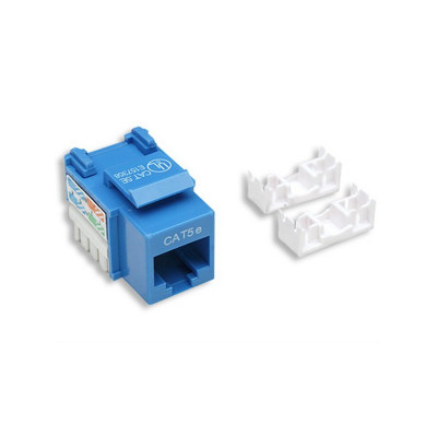 CAT 5E UTP TOOLLESS KEYSTONE - BLUE